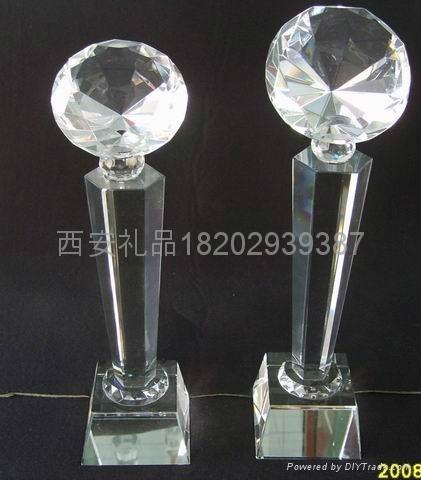 西安雕刻水晶奖杯定制 3