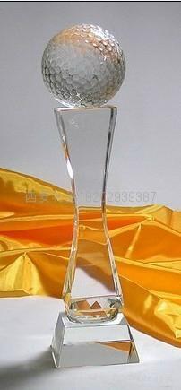 西安雕刻水晶奖杯定制 1