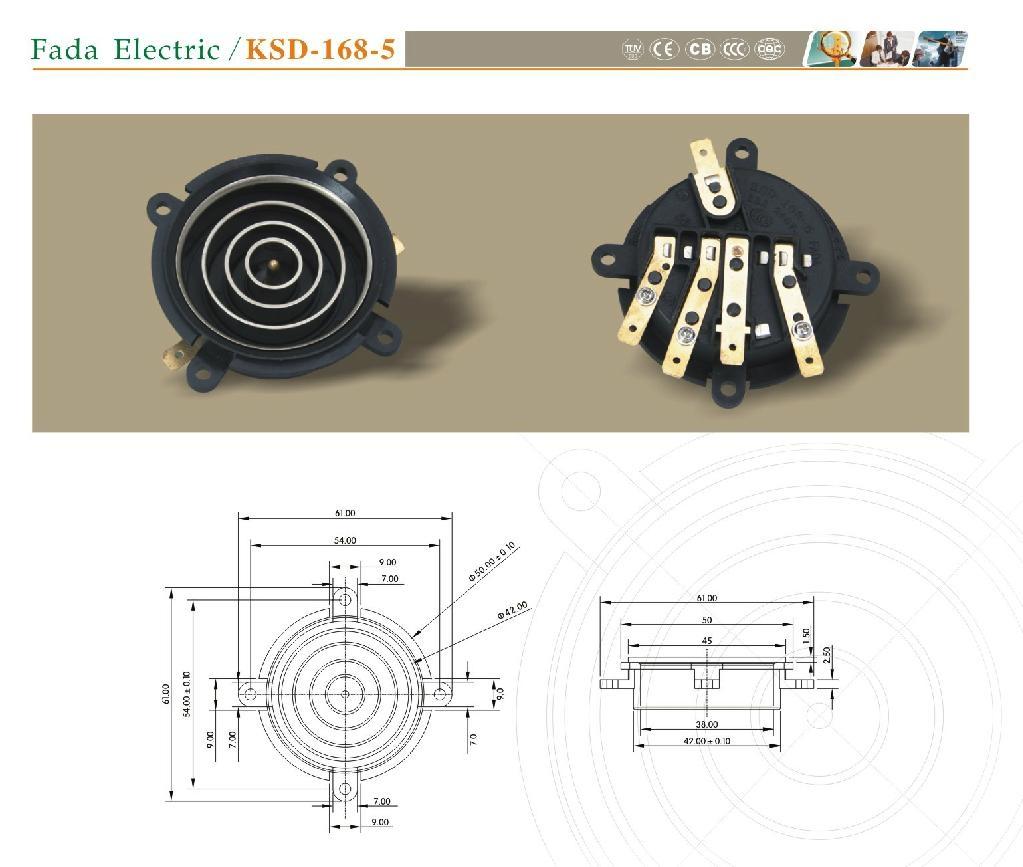 智能水壺KSD-168-5 連接器 1