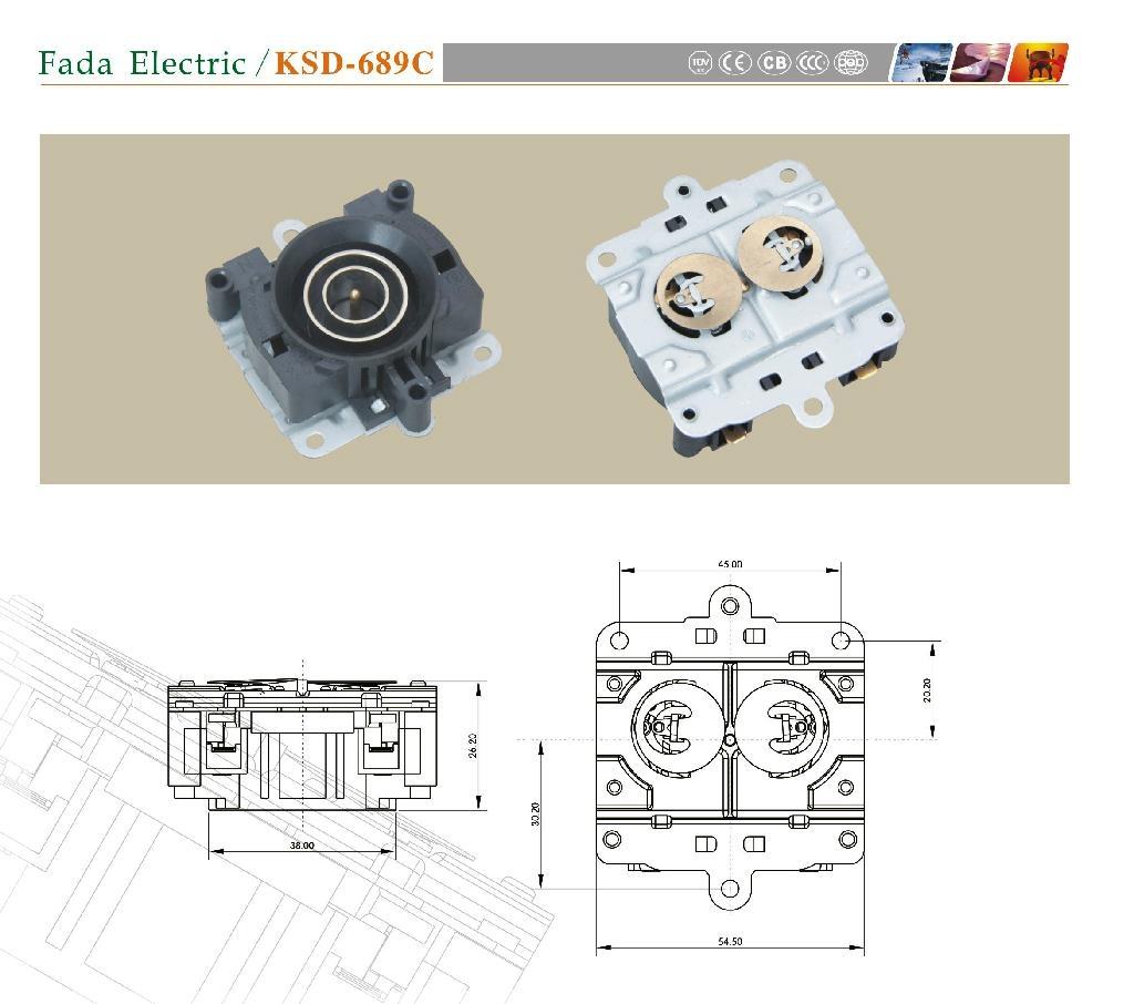 发达电器 电热水壶温控器 1
