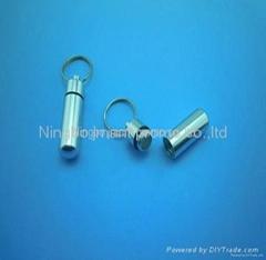pill box keychains ,capsule keyrings