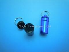 Aluminum pill box keyrings,capsule