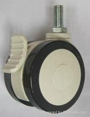双片医疗设备轮