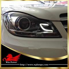 2011 2012 2013 2014 Benz C class W204 LED xenon headlight RHD LHD