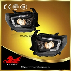 2014 Toyota Tundra headlight with bi-xenon projector kit and LED DRL