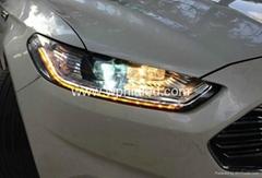 2013 2014 福特蒙迪欧大灯总成 流光LED 转向灯