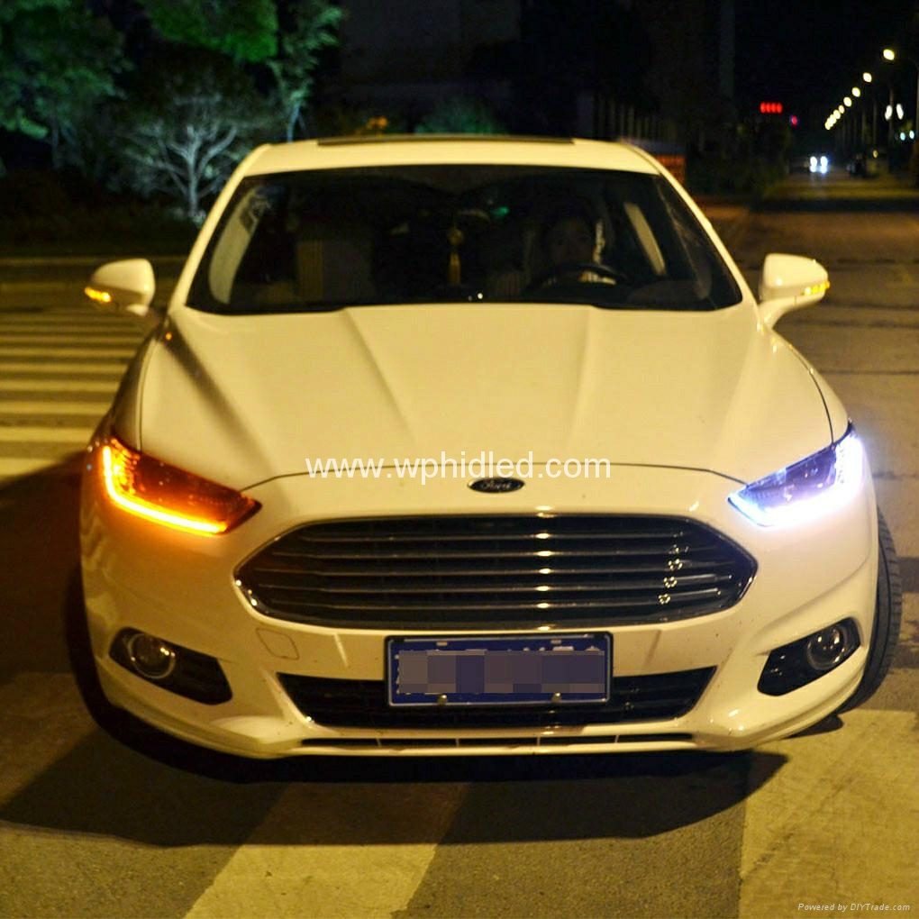 For 2013 2014 Ford Mondeo Fusion Led Headlight With Bi Xenon Lens Led High Beam Mondeo Lights