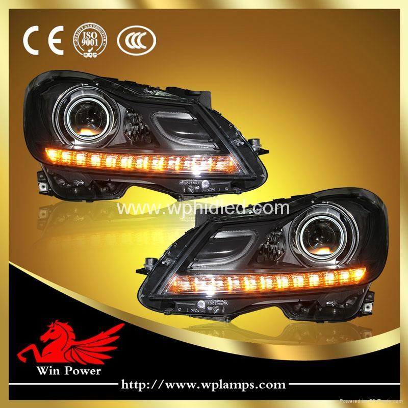 For 2011-2014 Benz C class W204 C180 C200 C260 LED headlight