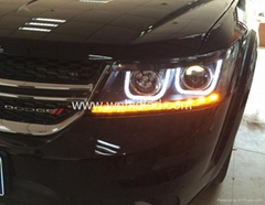 2009-2014 Dodge Journey JCUV led front headlight LED strip light LED hig beam