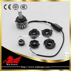 20W Multiple base cree LED motorcycle headlight replace for P43t P15d BA20D