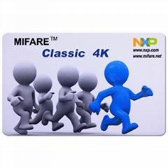 RFID MIFARE DESfire EV1 4K White PVC Card