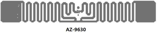 Alien EPC Gen 2 射頻識別標籤 Squiggle Inlay 9630 3