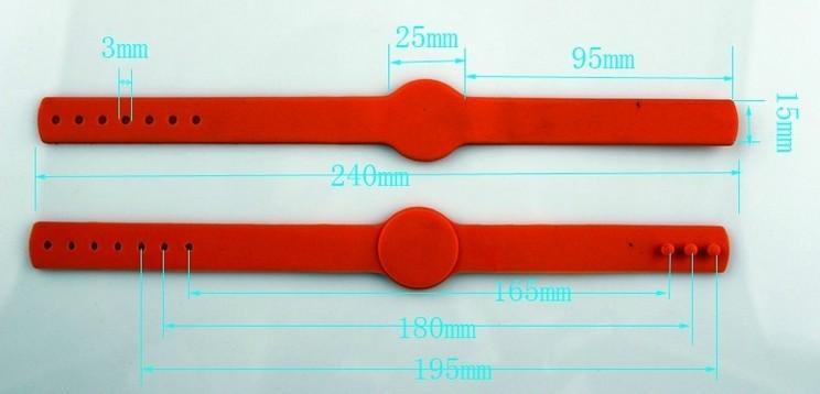RFID硅胶手腕带RFWK0028Y 2