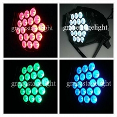 18pcs RGB-in-1 tri color diecasting aluminum led par light  (GL-081)