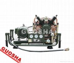 300公斤消防呼吸用的高压呼吸空气压缩机VF-206
