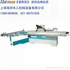 上海海湃木工45度圆棒导轨精密推台锯厂家直销