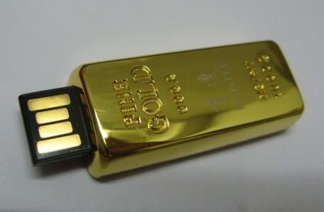 gold bar usb flash disk 1