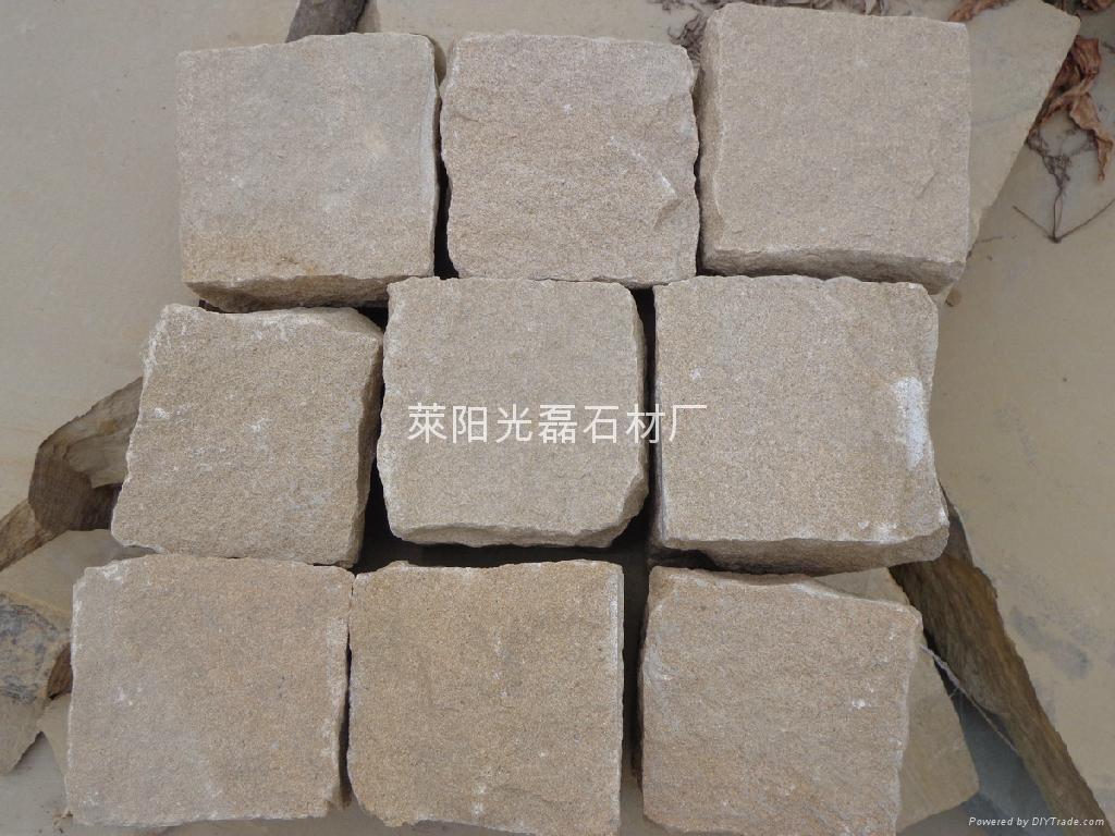 黄砂岩自然面小块石 4