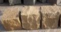 黄砂岩6面自然方块石 2