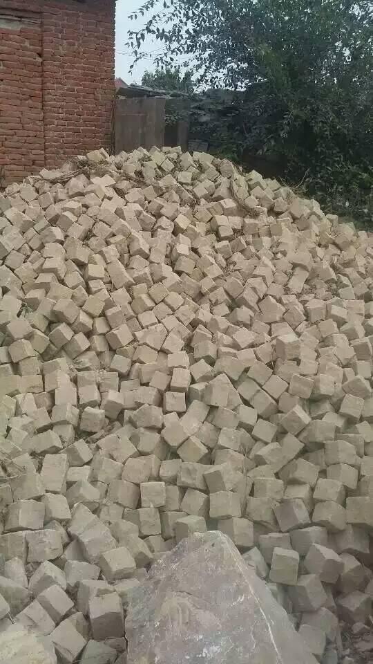 黄砂岩6面自然方块石 5
