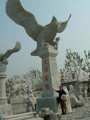 手工石雕鹰