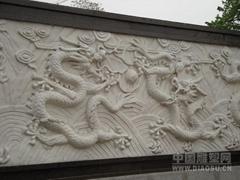 石雕九龍壁龍柱