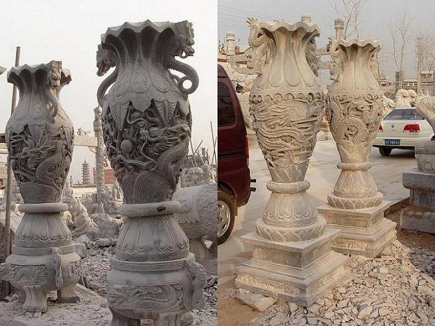 石雕宝瓶 1