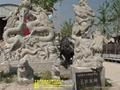 石雕九龙壁龙柱 5