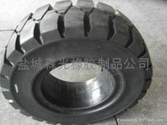 叉车实心轮胎300-15