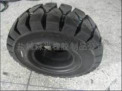高弹性叉车实心轮胎7.00-9