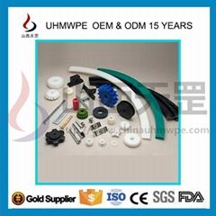 供UHMWPE/UPE/pe1000超高聚乙烯加工件920萬耐磨抗靜電多色可定製