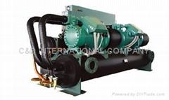 High temperature hot water heat pump
