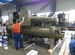 Flooded type water cooled screw chiller