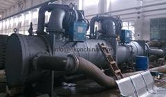 Twin- compressor centrifugal chiller