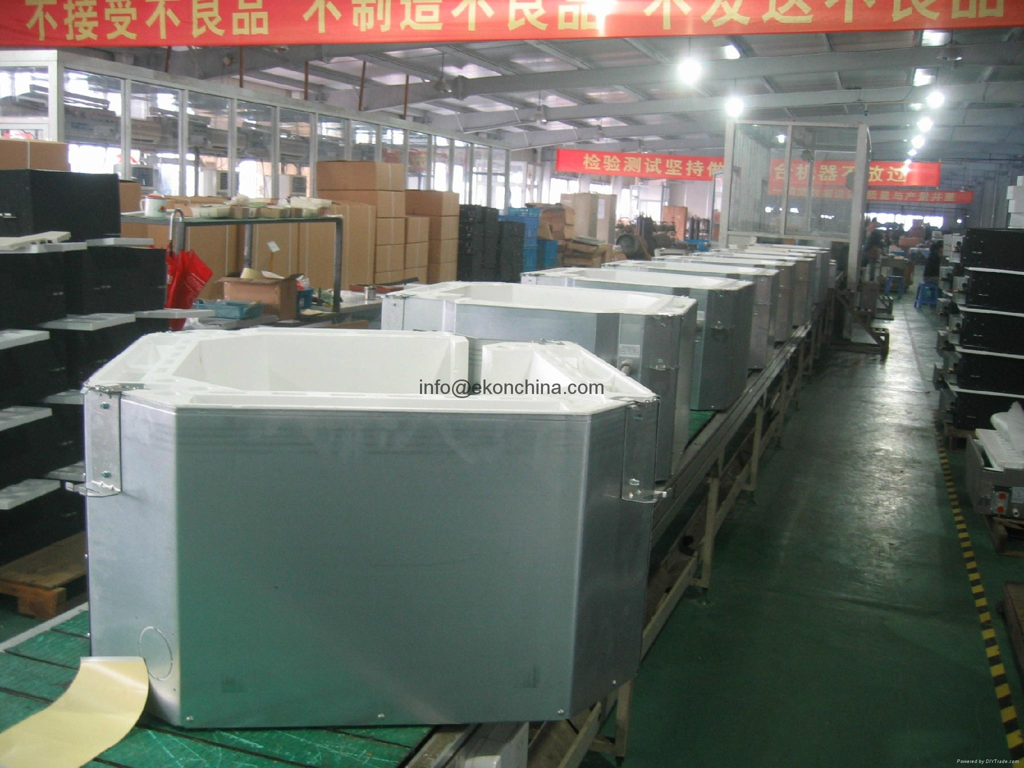 Outdoor unit production line