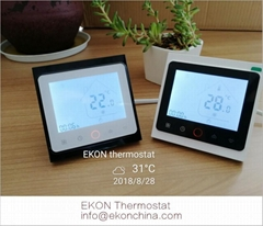 4 pipe Fan coil thermostat-Touch button for water FCU TF-704 series