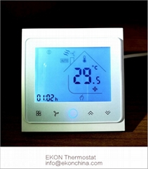 2 pipe FCU room thermostat-Touch button smart WIFI app control TF-704 series