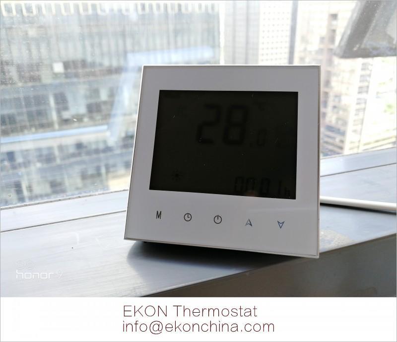 4 pipe FCU thermostat/ 0-10V EC motor /backlit/ModBus-RS485 RTU TF-703 series  1