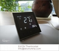 Negative black screen white backlit 4 pipe FCU room thermostat-TF-702 series 3