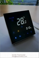 Mirror touch screen white backlit 2pipe FCU room thermostat-TF-701series