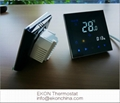 Mirror touch screen white backlit 4pipe FCU room thermostat-TF-701series