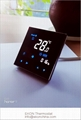 Smart WIFI mirror soft touch white backlit 2 pipe FCU room thermostat TF-701 2