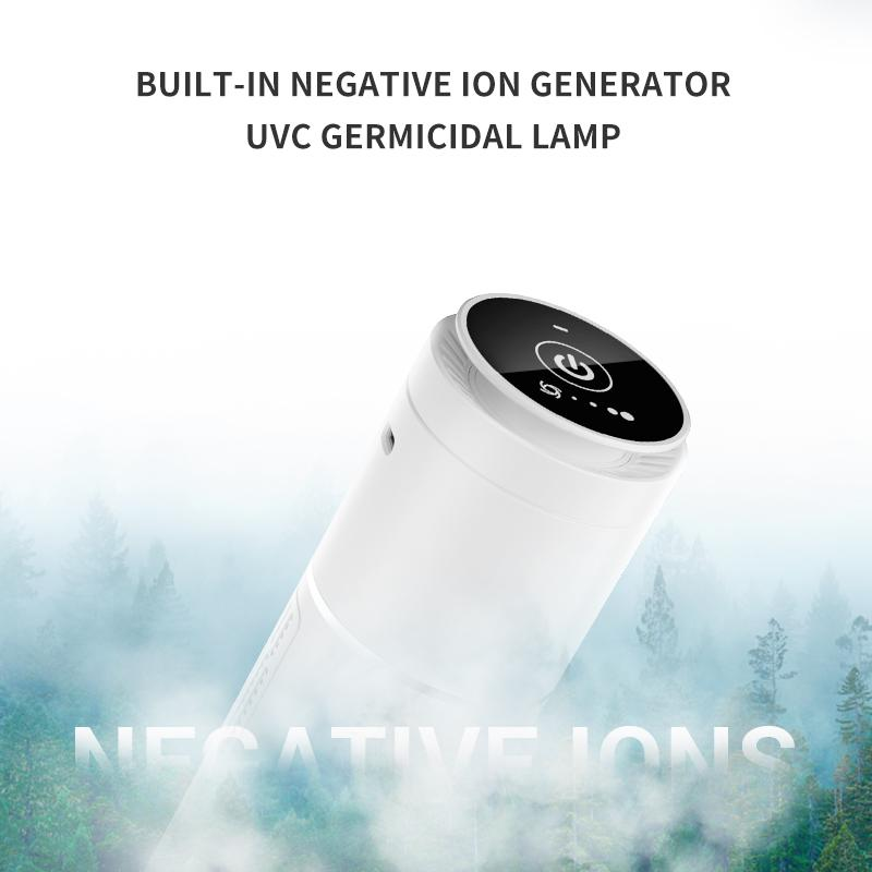 In car air purifier and air cleaner with UVC and anion generator 7