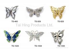 Metal Brooch - Butterfly