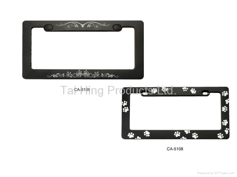 Custom logo License Plate Frame  1