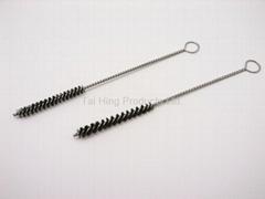 Stainless Steel Cleaning Rod Gun Barrel Brush / Toy Hand gun Barrel Brush