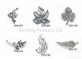 Metal Brooch - Leaf Series 01