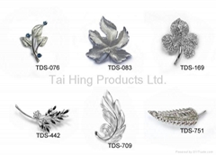Metal Brooch - Leaf Seri