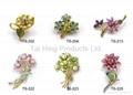 Metal Brooch - Flower Series 01~03