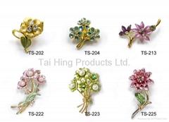 Metal Brooch - Flower Se